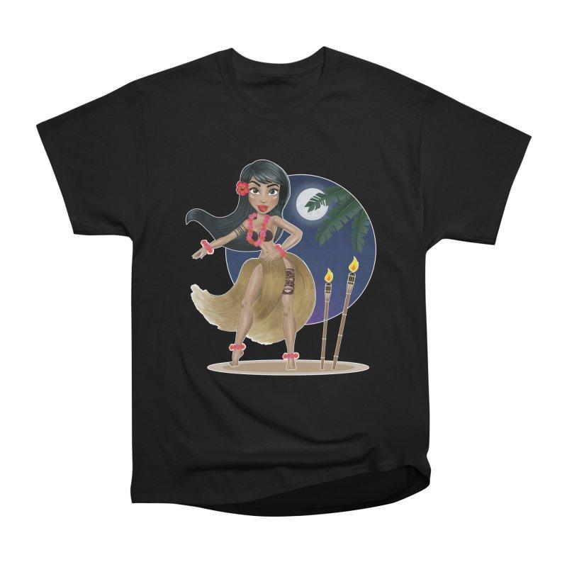 Metro&medio Designs - Hula Dancer Pin-up Men's Heavyweight T-Shirt by metroymedio's Artist Shop