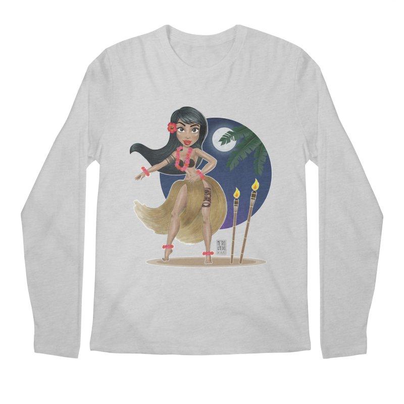 Metro&medio Designs - Hula Dancer Pin-up Men's Longsleeve T-Shirt by metroymedio's Artist Shop