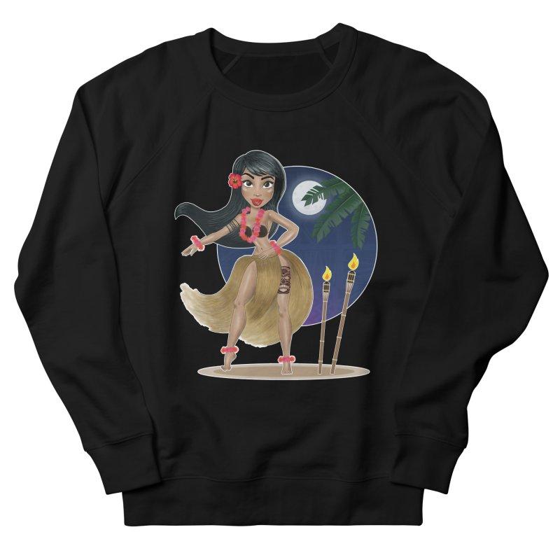 Metro&medio Designs - Hula Dancer Pin-up Women's French Terry Sweatshirt by metroymedio's Artist Shop