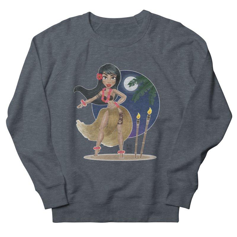 Metro&medio Designs - Hula Dancer Pin-up Men's French Terry Sweatshirt by metroymedio's Artist Shop
