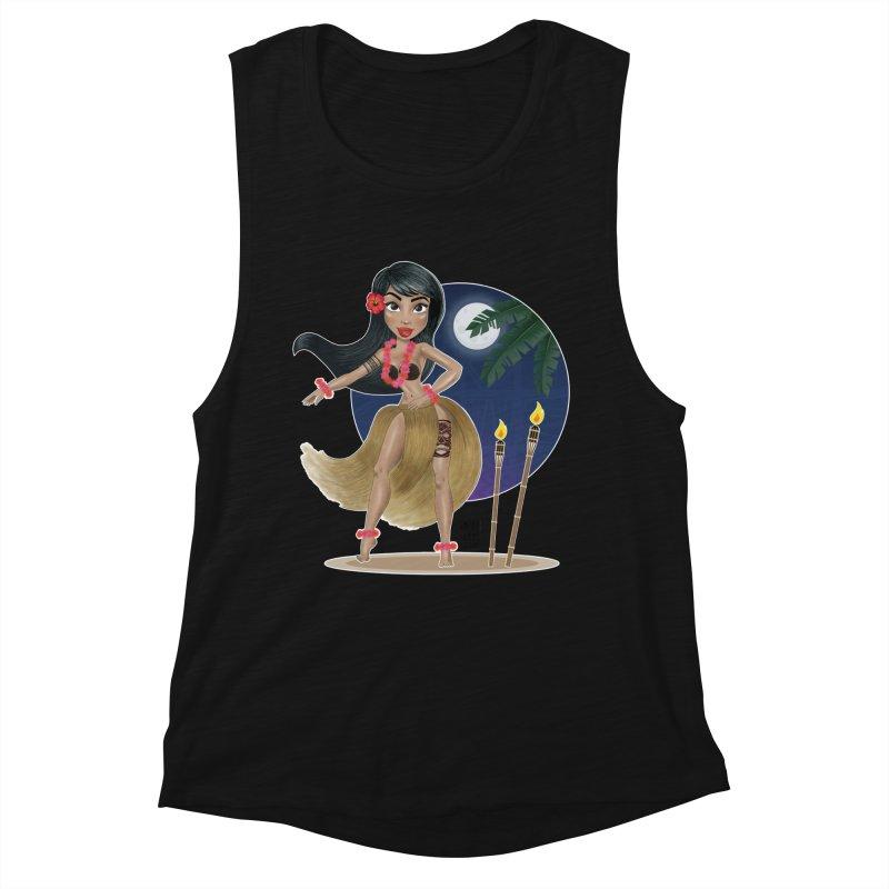 Metro&medio Designs - Hula Dancer Pin-up Women's Tank by metroymedio's Artist Shop