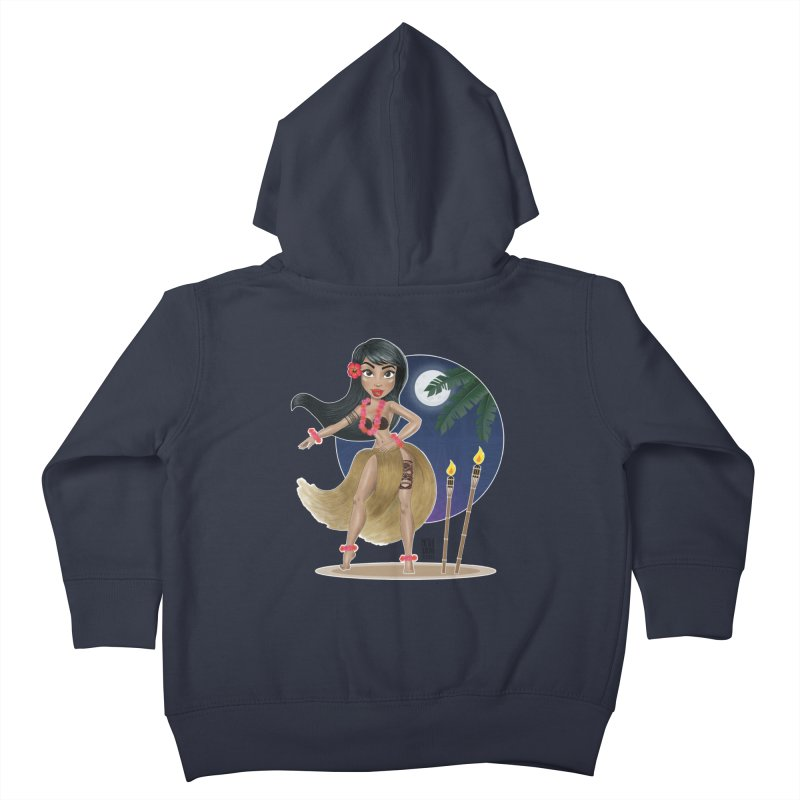 Metro&medio Designs - Hula Dancer Pin-up Kids Toddler Zip-Up Hoody by metroymedio's Artist Shop