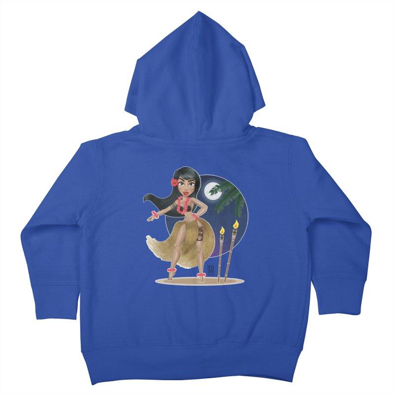 Metro&medio Designs - Hula Dancer Pin-up Kids Toddler Zip-Up Hoody by metroymedio's Artist Shop