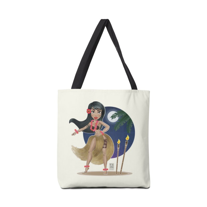 Metro&medio Designs - Hula Dancer Pin-up Accessories Tote Bag Bag by metroymedio's Artist Shop