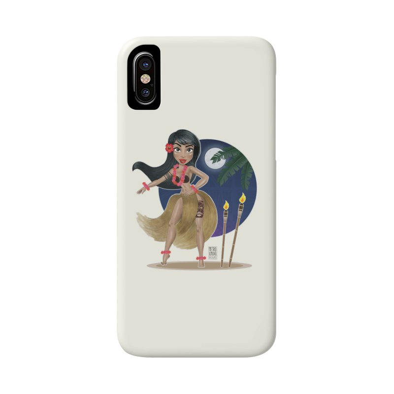 Metro&medio Designs - Hula Dancer Pin-up Accessories Phone Case by metroymedio's Artist Shop