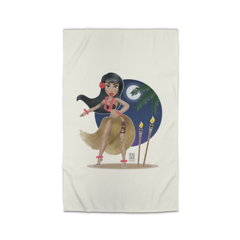 Metro&medio Designs - Hula Dancer Pin-up Home Rug by metroymedio's Artist Shop