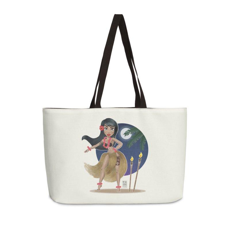 Metro&medio Designs - Hula Dancer Pin-up Accessories Weekender Bag Bag by metroymedio's Artist Shop