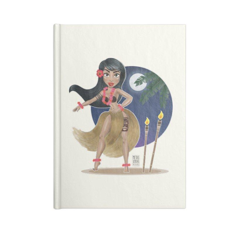 Metro&medio Designs - Hula Dancer Pin-up Accessories Notebook by metroymedio's Artist Shop