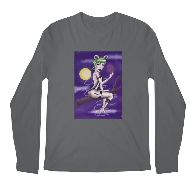 Metro&medio Designs - Enchantress Pin-up Men's Longsleeve T-Shirt by metroymedio's Artist Shop