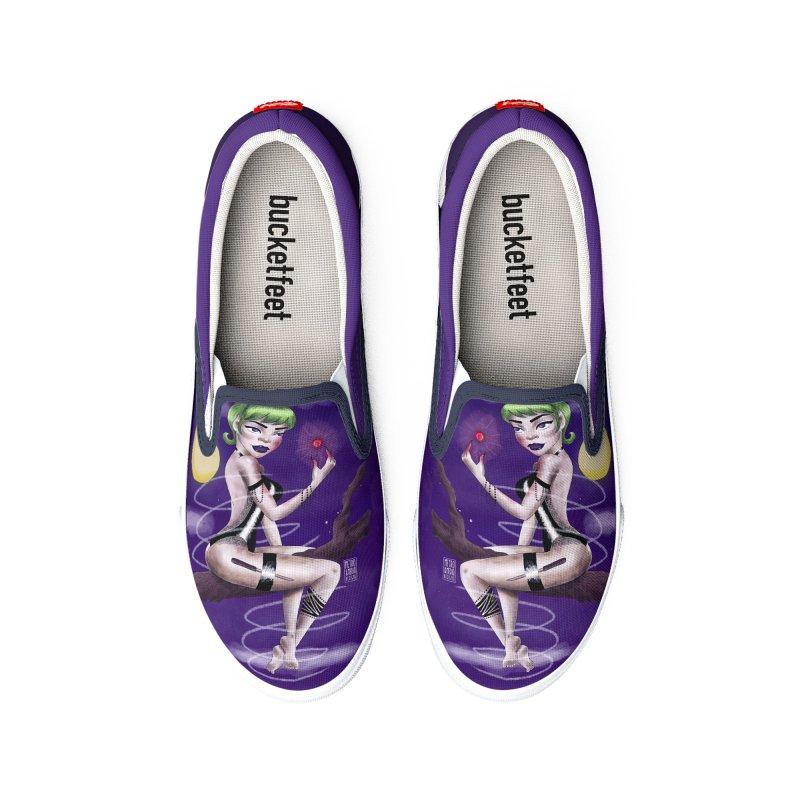 Metro&medio Designs - Enchantress Pin-up Men's Shoes by metroymedio's Artist Shop