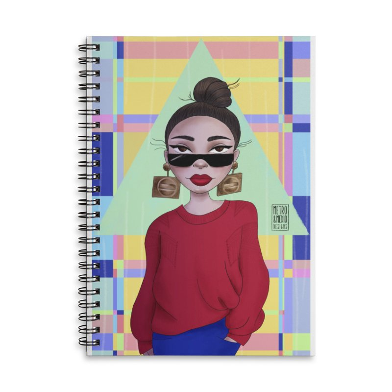 Metro&medio Designs - Wallart Pin-up Accessories Lined Spiral Notebook by metroymedio's Artist Shop