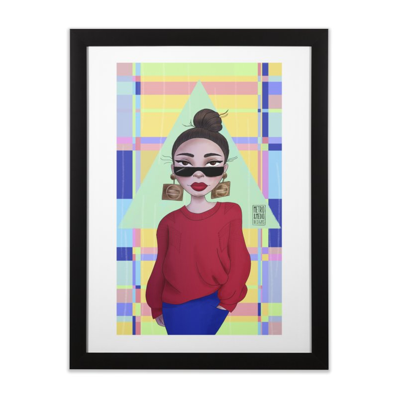 Metro&medio Designs - Wallart Pin-up Home Framed Fine Art Print by metroymedio's Artist Shop