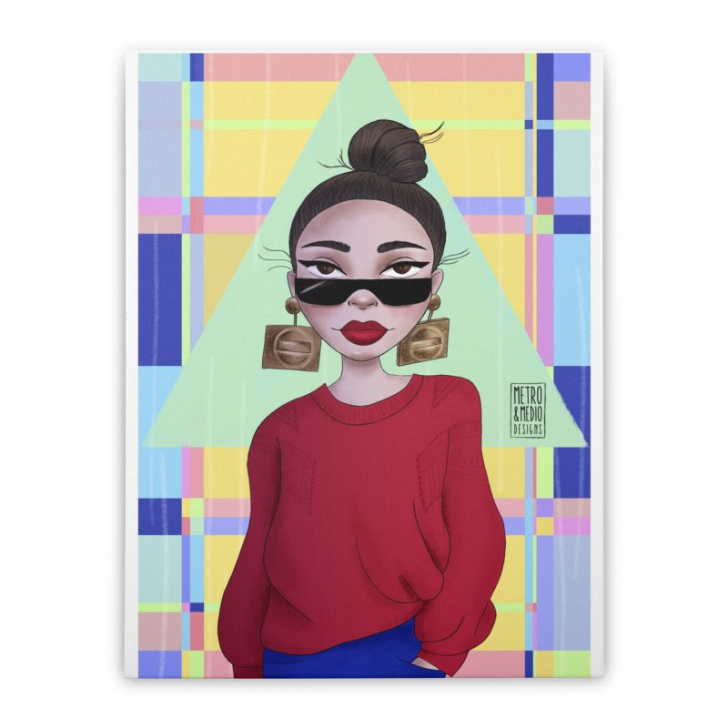 Metro&medio Designs - Wallart Pin-up Home Stretched Canvas by metroymedio's Artist Shop