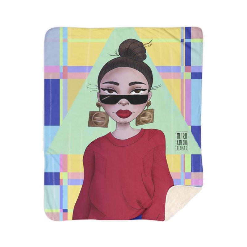 Metro&medio Designs - Wallart Pin-up Home Sherpa Blanket Blanket by metroymedio's Artist Shop