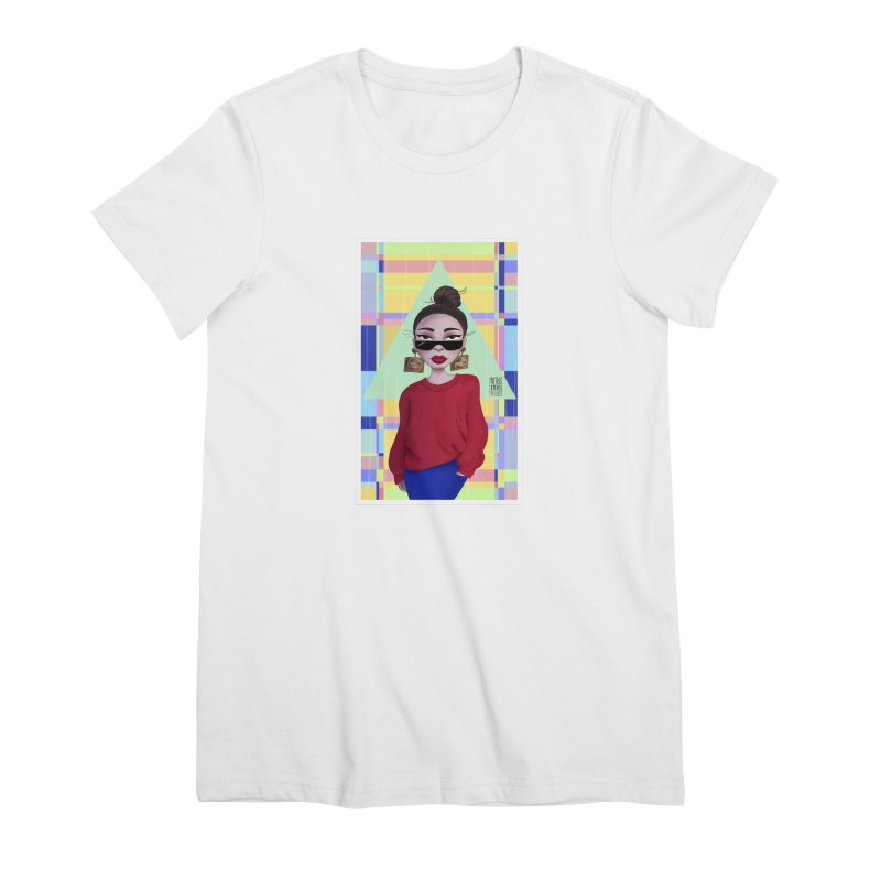 Metro&medio Designs - Wallart Pin-up Women's Premium T-Shirt by metroymedio's Artist Shop