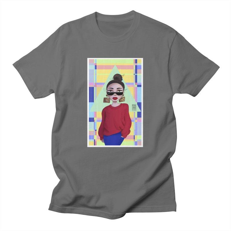Metro&medio Designs - Wallart Pin-up Men's T-Shirt by metroymedio's Artist Shop