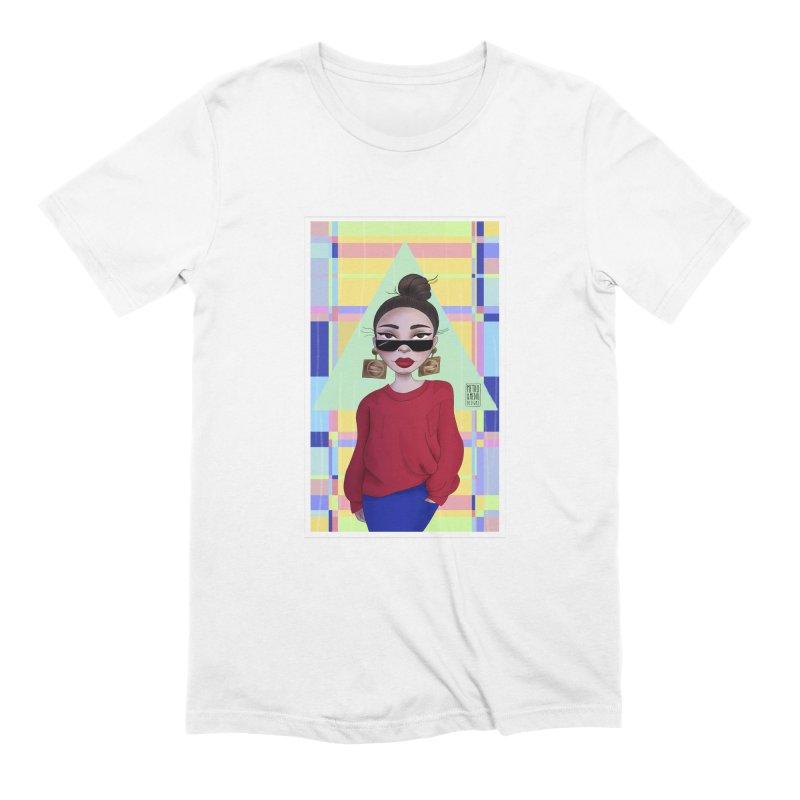 Metro&medio Designs - Wallart Pin-up Men's Extra Soft T-Shirt by metroymedio's Artist Shop