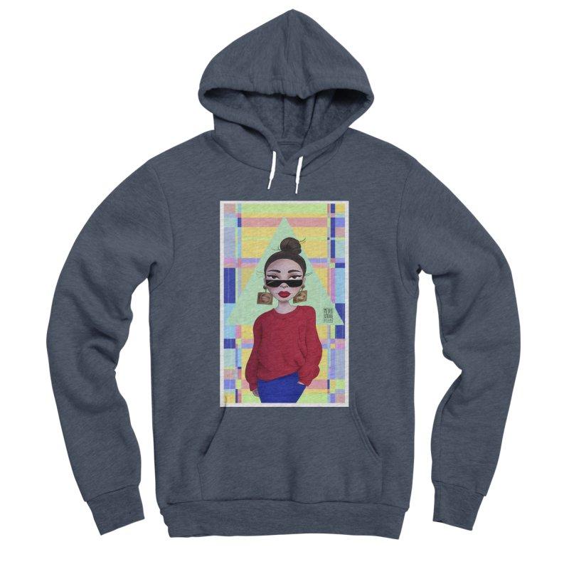 Metro&medio Designs - Wallart Pin-up Men's Sponge Fleece Pullover Hoody by metroymedio's Artist Shop