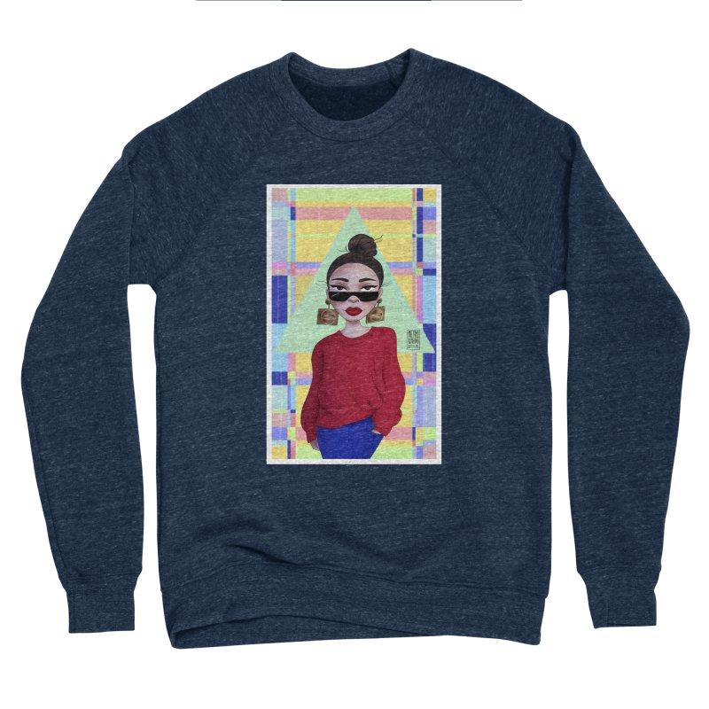 Metro&medio Designs - Wallart Pin-up Men's Sponge Fleece Sweatshirt by metroymedio's Artist Shop