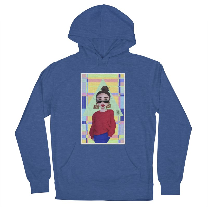 Metro&medio Designs - Wallart Pin-up Women's French Terry Pullover Hoody by metroymedio's Artist Shop