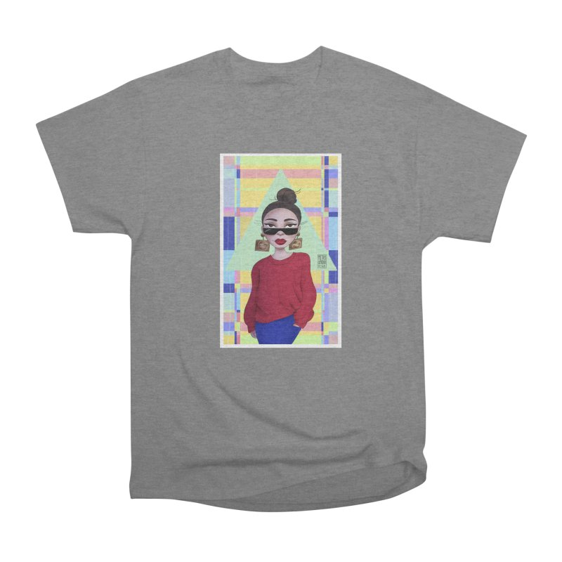 Metro&medio Designs - Wallart Pin-up Men's Heavyweight T-Shirt by metroymedio's Artist Shop