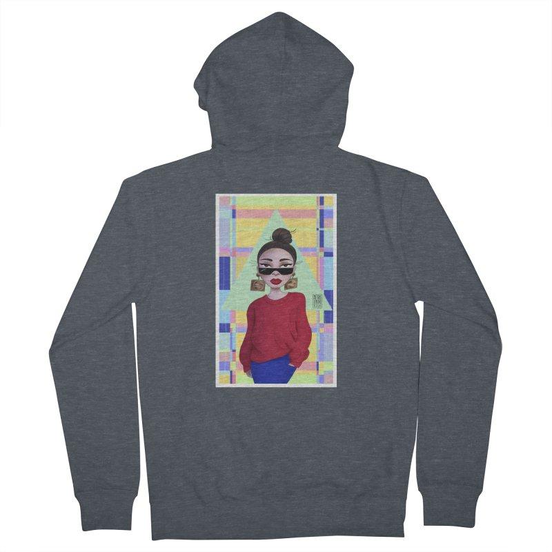 Metro&medio Designs - Wallart Pin-up Women's French Terry Zip-Up Hoody by metroymedio's Artist Shop