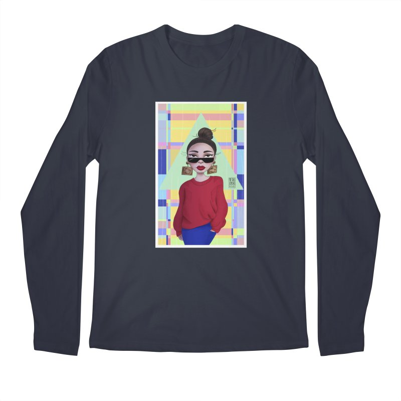 Metro&medio Designs - Wallart Pin-up Men's Longsleeve T-Shirt by metroymedio's Artist Shop