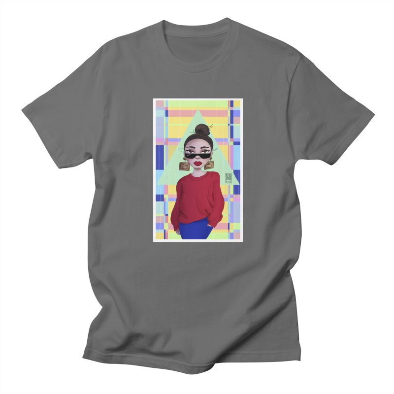 Metro&medio Designs - Wallart Pin-up Men's Regular T-Shirt by metroymedio's Artist Shop