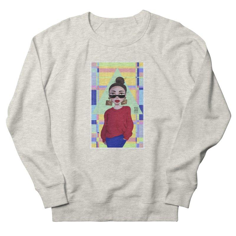 Metro&medio Designs - Wallart Pin-up Women's French Terry Sweatshirt by metroymedio's Artist Shop