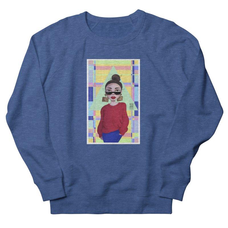 Metro&medio Designs - Wallart Pin-up Men's French Terry Sweatshirt by metroymedio's Artist Shop