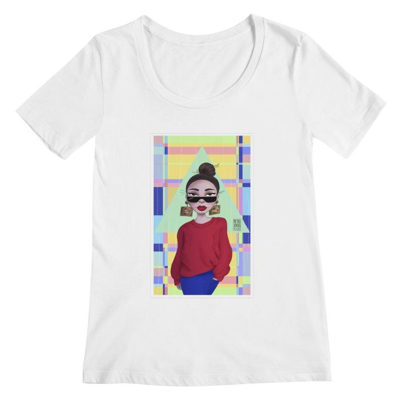 Metro&medio Designs - Wallart Pin-up Women's Regular Scoop Neck by metroymedio's Artist Shop