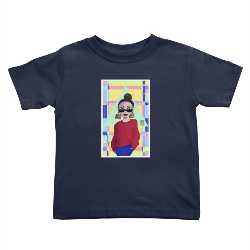 Metro&medio Designs - Wallart Pin-up Kids Toddler T-Shirt by metroymedio's Artist Shop