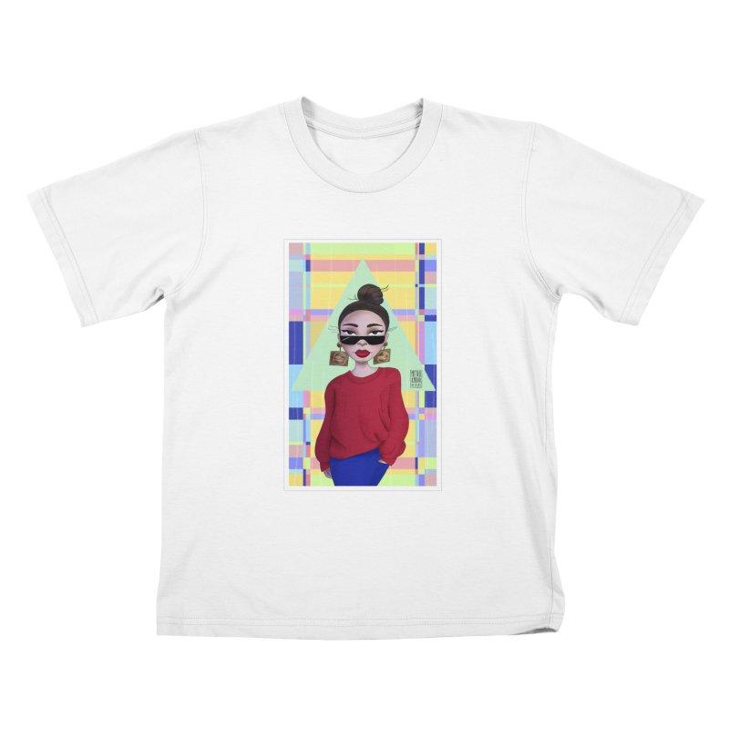 Metro&medio Designs - Wallart Pin-up Kids T-Shirt by metroymedio's Artist Shop