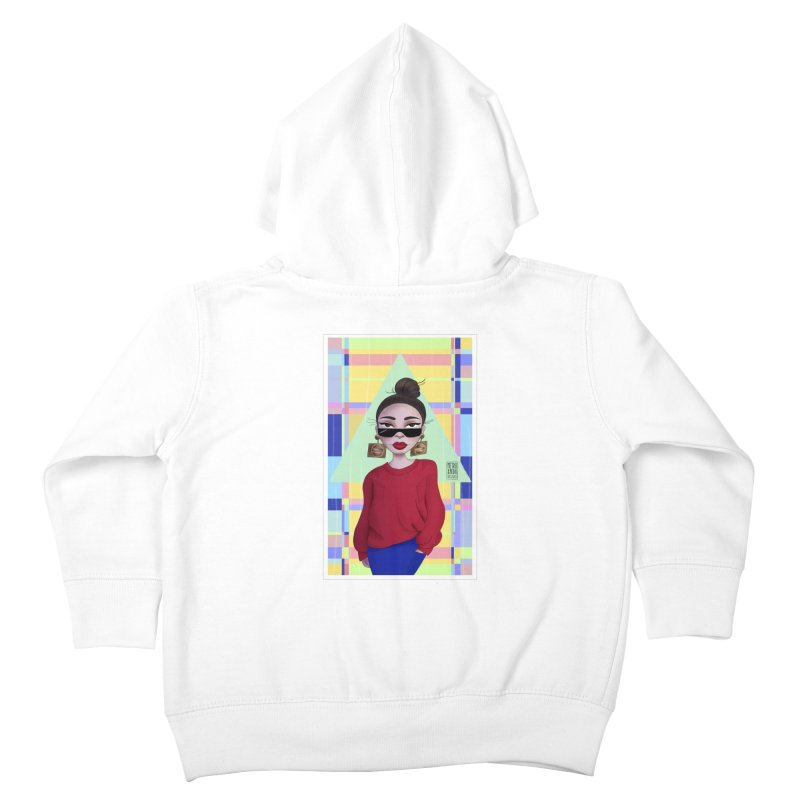 Metro&medio Designs - Wallart Pin-up Kids Toddler Zip-Up Hoody by metroymedio's Artist Shop