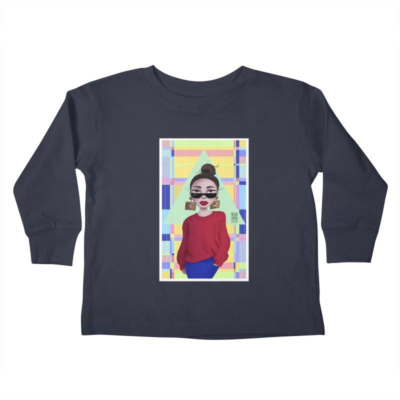 Metro&medio Designs - Wallart Pin-up Kids Toddler Longsleeve T-Shirt by metroymedio's Artist Shop