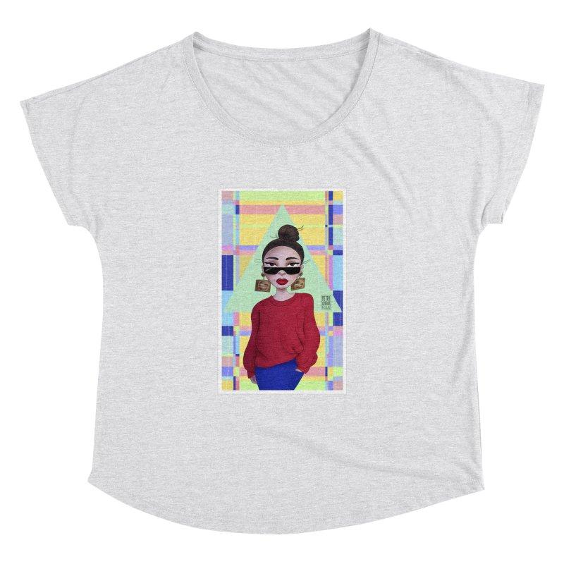 Metro&medio Designs - Wallart Pin-up Women's Dolman Scoop Neck by metroymedio's Artist Shop