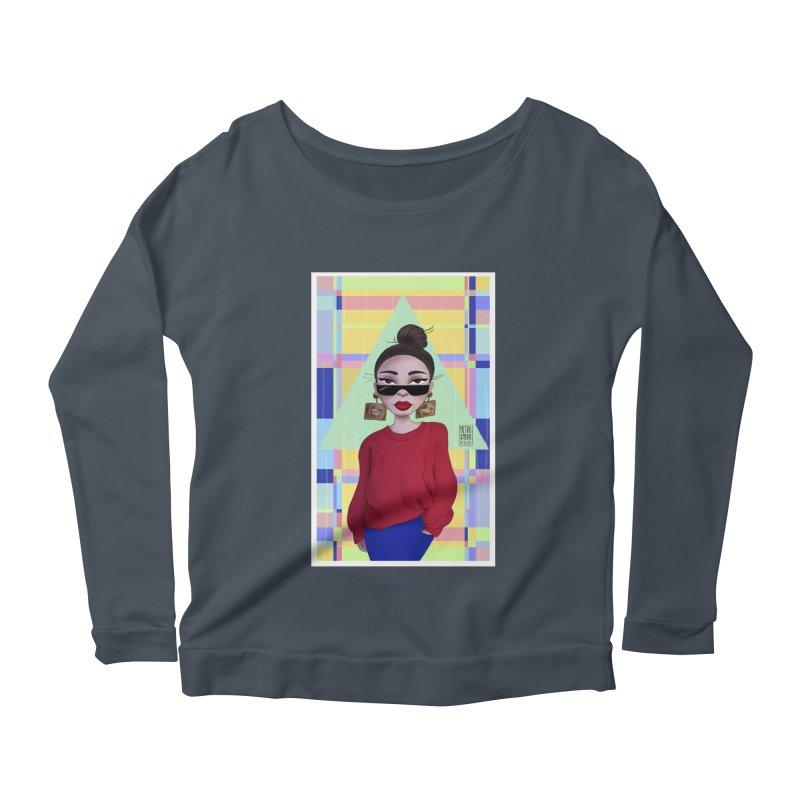Metro&medio Designs - Wallart Pin-up Women's Scoop Neck Longsleeve T-Shirt by metroymedio's Artist Shop