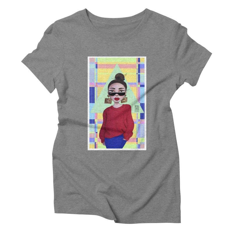 Metro&medio Designs - Wallart Pin-up Women's Triblend T-Shirt by metroymedio's Artist Shop