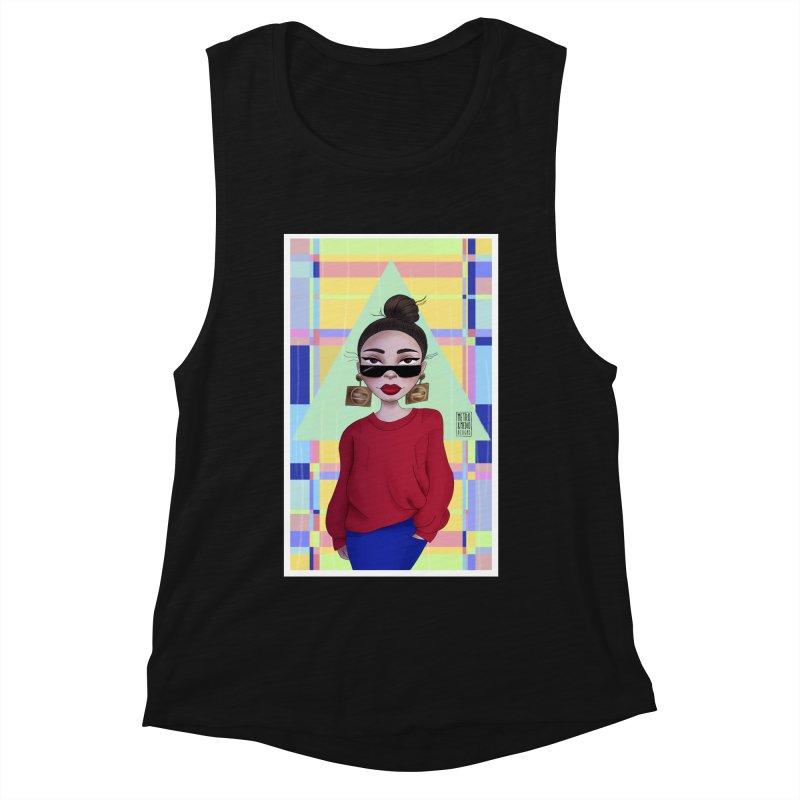 Metro&medio Designs - Wallart Pin-up Women's Muscle Tank by metroymedio's Artist Shop