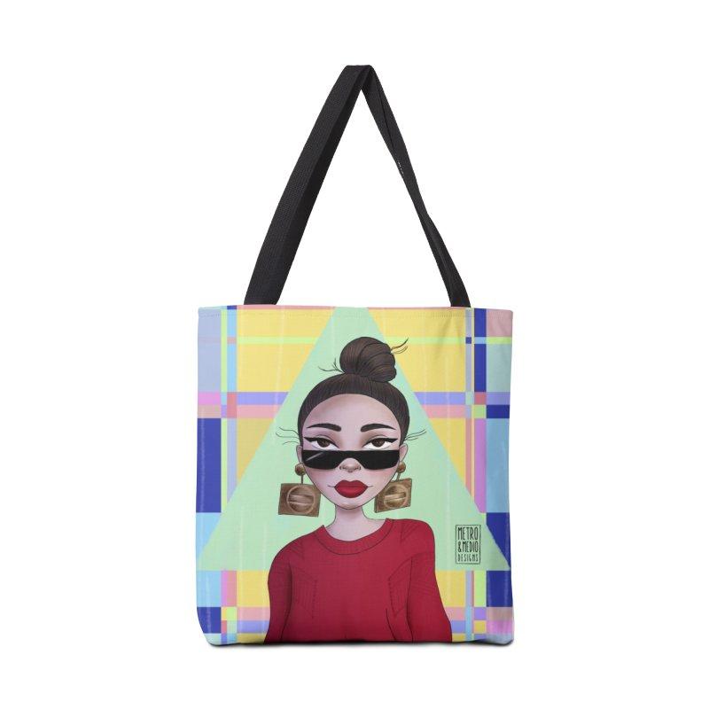 Metro&medio Designs - Wallart Pin-up Accessories Tote Bag Bag by metroymedio's Artist Shop
