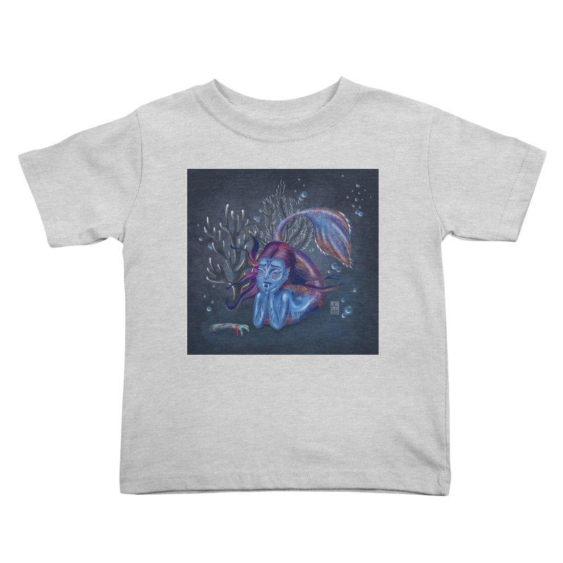 Metro&medio Designs - Blue mermaid Kids Toddler T-Shirt by metroymedio's Artist Shop