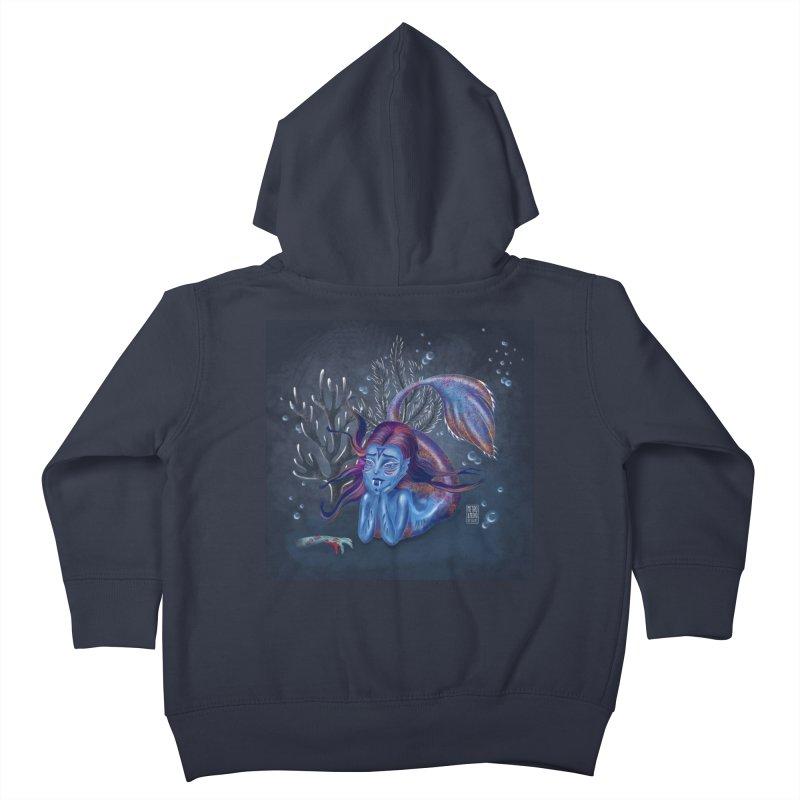 Metro&medio Designs - Blue mermaid Kids Toddler Zip-Up Hoody by metroymedio's Artist Shop