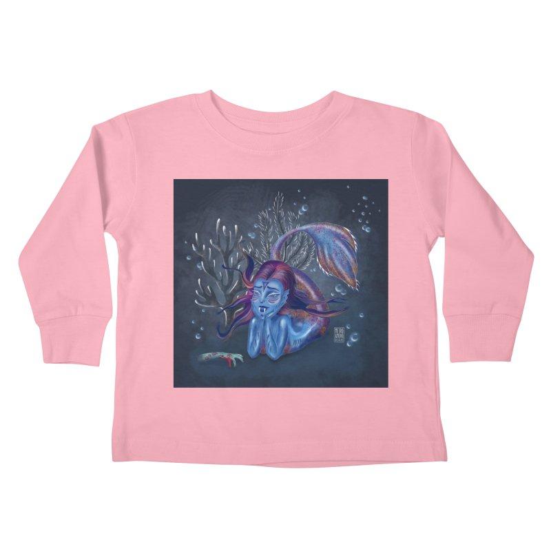Metro&medio Designs - Blue mermaid Kids Toddler Longsleeve T-Shirt by metroymedio's Artist Shop