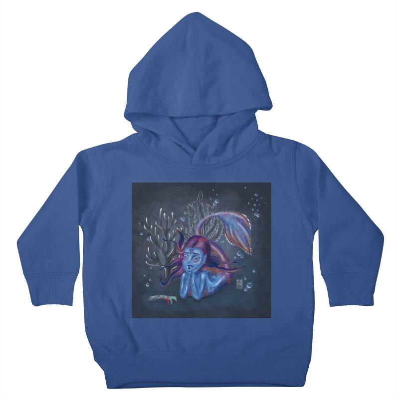 Metro&medio Designs - Blue mermaid Kids Toddler Pullover Hoody by metroymedio's Artist Shop