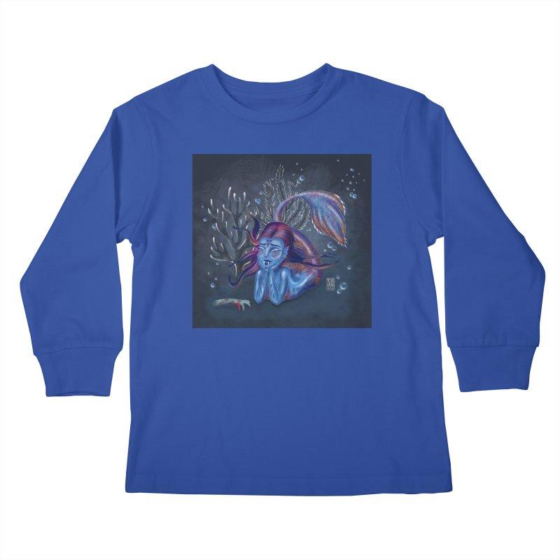 Metro&medio Designs - Blue mermaid Kids Longsleeve T-Shirt by metroymedio's Artist Shop
