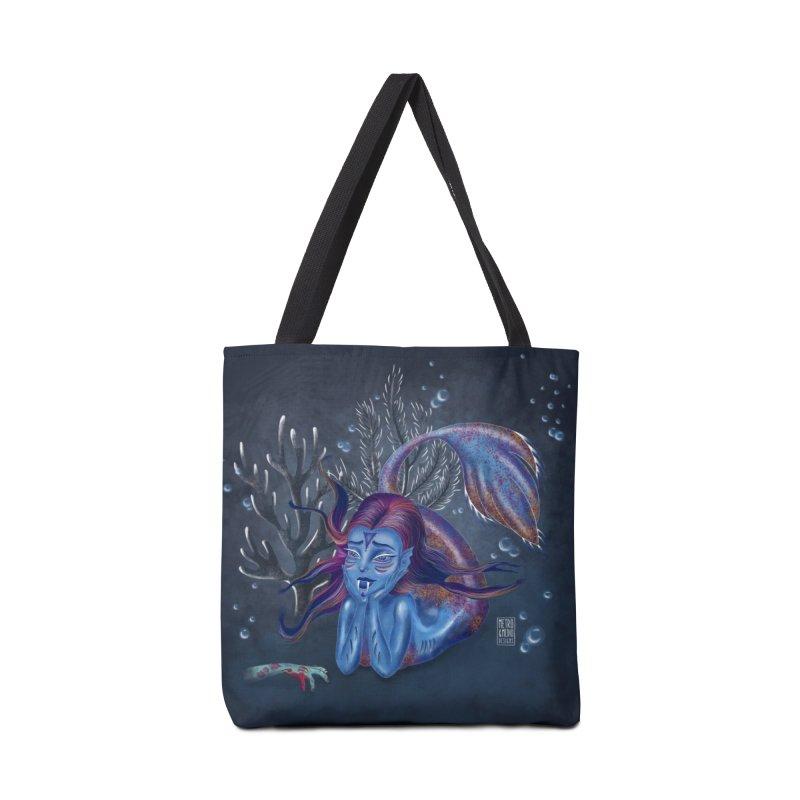 Metro&medio Designs - Blue mermaid Accessories Tote Bag Bag by metroymedio's Artist Shop