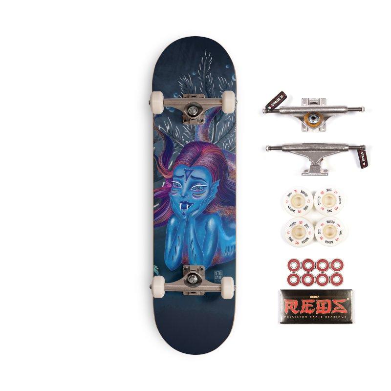Metro&medio Designs - Blue mermaid Accessories Complete - Pro Skateboard by metroymedio's Artist Shop
