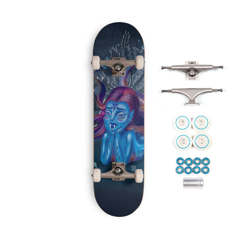 Metro&medio Designs - Blue mermaid Accessories Complete - Basic Skateboard by metroymedio's Artist Shop