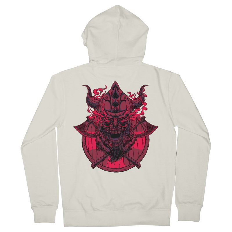 Undead Viking Men's Zip-Up Hoody by mewtate's Artist Shop