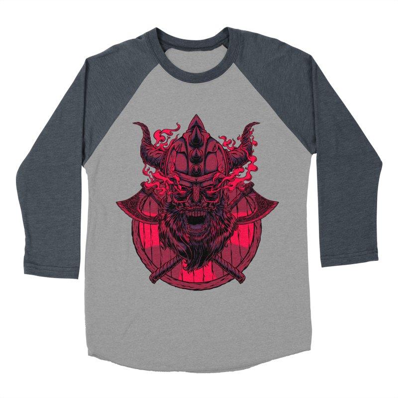 Undead Viking Men's Baseball Triblend T-Shirt by mewtate's Artist Shop